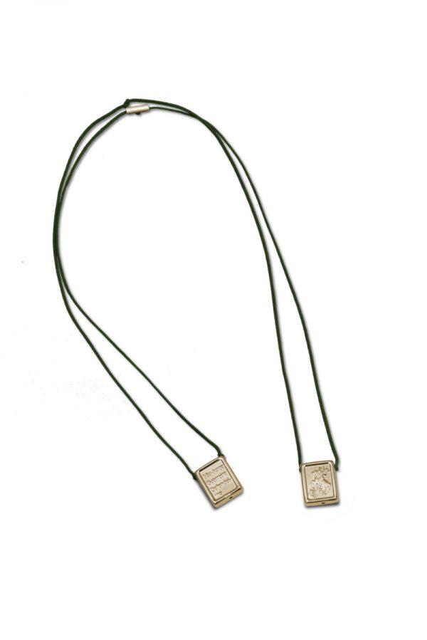 ballestrin-scapular-stgeorge-goldplated-cord-green