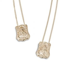 Baroque Protection Escapulario Gold-Plated, with Chain